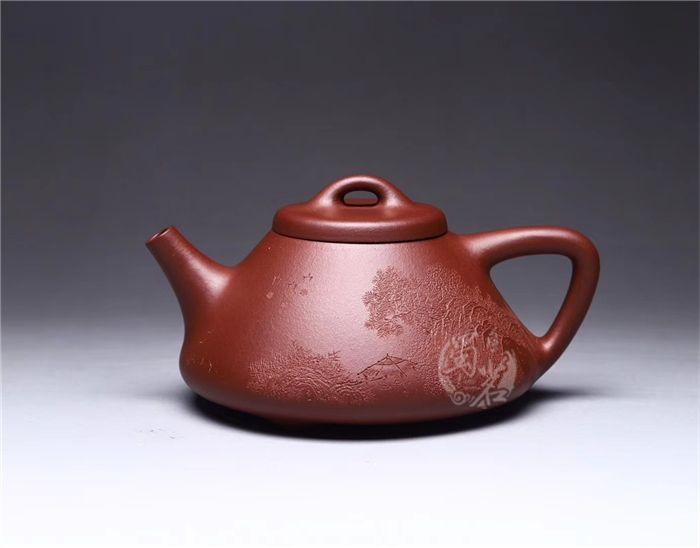 """子冶石瓢(李彦雄刻""""溪山图"""")"""