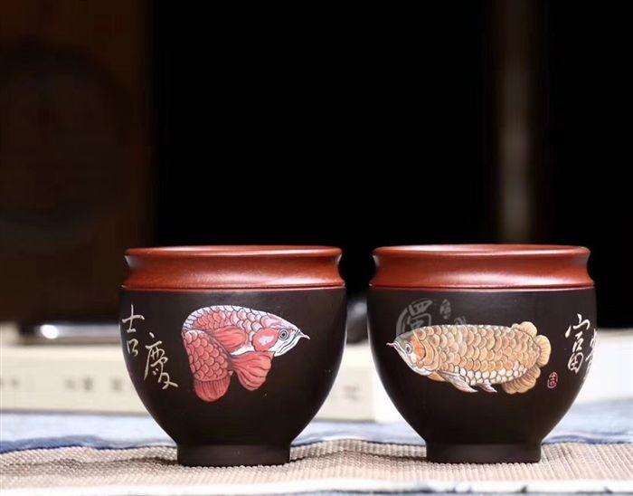 品茗杯(富贵金龙鱼)