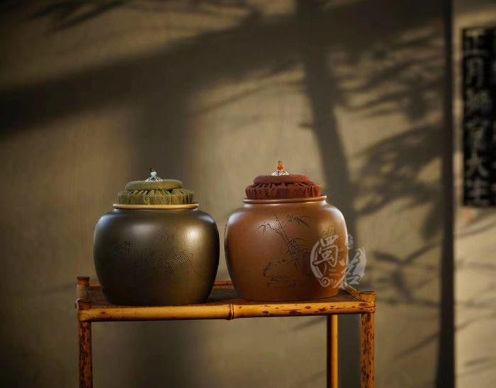 文人茶叶罐