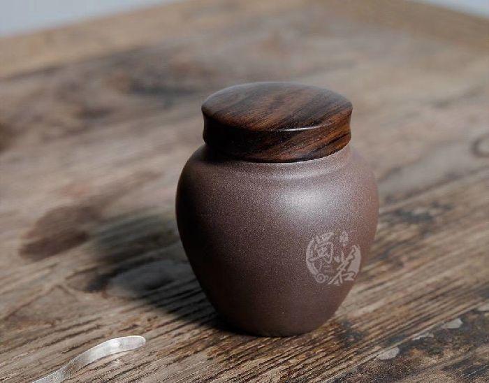 黑檀木茶叶罐