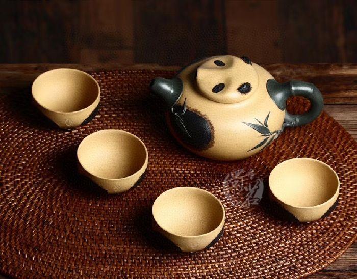 熊猫套组壶